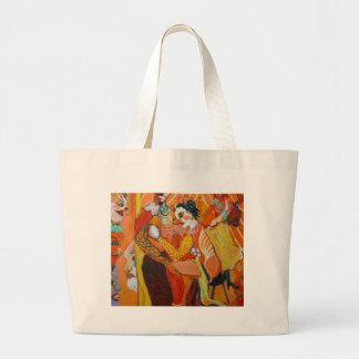 Rire - peinture de clown sac en toile jumbo