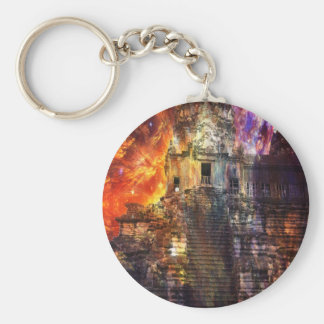 Rise Again Angkor Basic Round Button Keychain