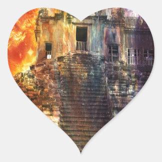 Rise Again Angkor Heart Sticker