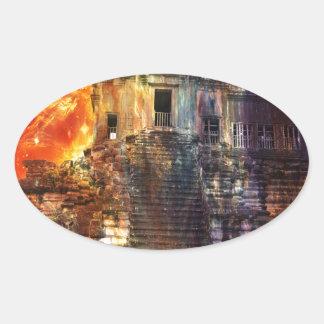 Rise Again Angkor Oval Sticker