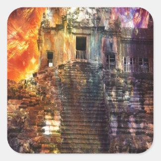 Rise Again Angkor Square Sticker