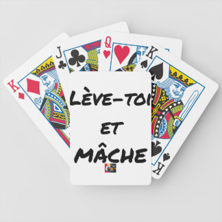 RISE AND CHEWS - Word games - François Ville Bicycle Playing Cards