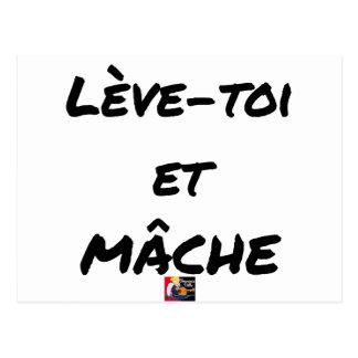 RISE AND CHEWS - Word games - François Ville Postcard
