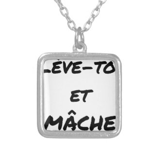 RISE AND CHEWS - Word games - François Ville Silver Plated Necklace
