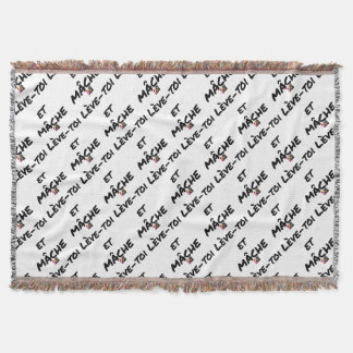 RISE AND CHEWS - Word games - François Ville Throw Blanket