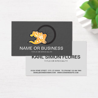 rise and roll cycle business card