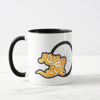 rise and roll cycle mug