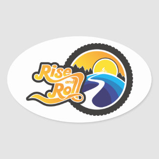 rise and roll cycle oval sticker