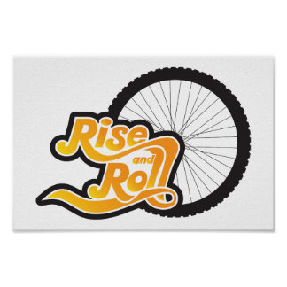 rise and roll cycle poster