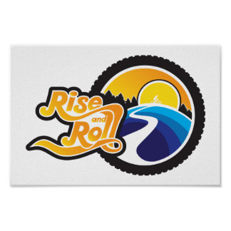 rise and roll cyclist poster