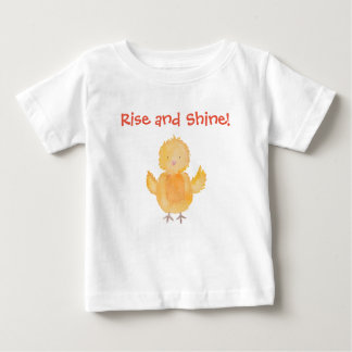 Rise and Shine Baby Chick Chicken Personalize Baby T-Shirt
