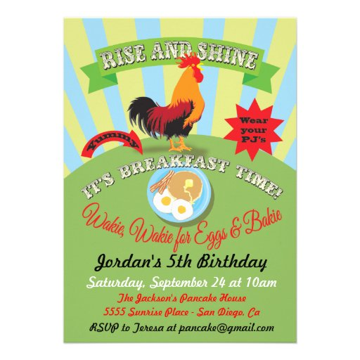 Rise And Shine Breakfast Birthday Party Invitation Zazzle