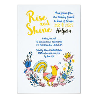 Rise and Shine Invitation