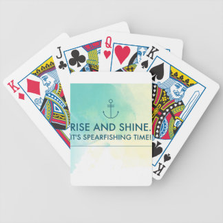 Rise and Shine It's Spearfishing Time Bicycle Playing Cards
