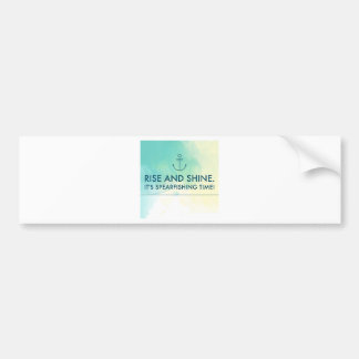Rise and Shine It's Spearfishing Time Bumper Sticker