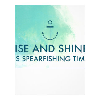 Rise and Shine It's Spearfishing Time Customized Letterhead