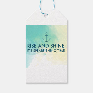 Rise and Shine It's Spearfishing Time Pack Of Gift Tags