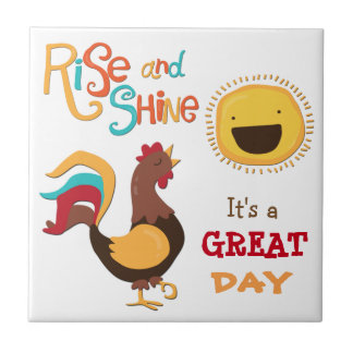 Rise and Shine Rooster Ceramic Tiles