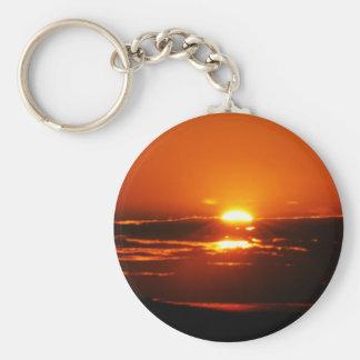 Rise And Shine Sunrise Basic Round Button Keychain