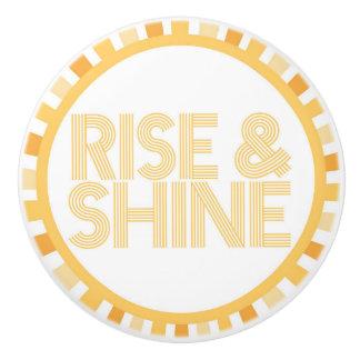 Rise and Shine Sunshine Knob Bathroom Morning Ceramic Knob