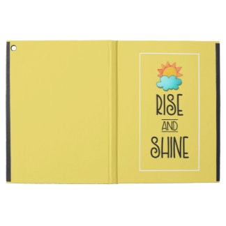 "Rise and Shine Typography With Sun and Cloud iPad Pro 12.9"" Case"