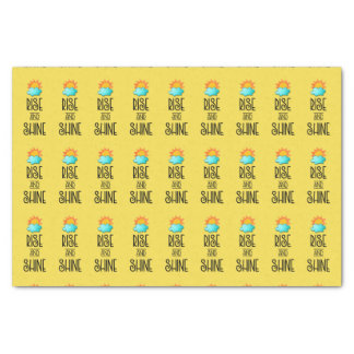 Rise and Shine Typography With Sunrise on Yellow Tissue Paper