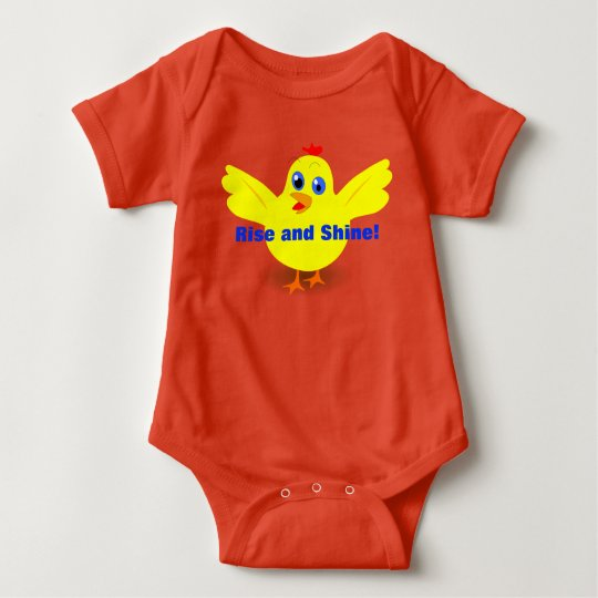 Rise and Shine Yellow Chick Baby Bodysuit