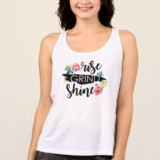 Rise Grind Shine (Black Text) Tank Top