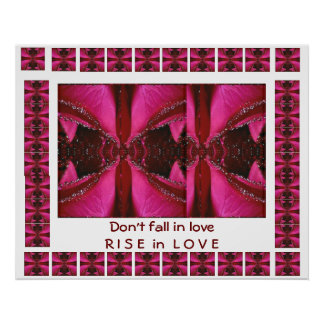 RISE in Love - Don't FALL in love Poster