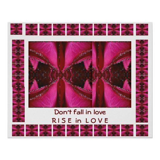RISE in Love - Don't FALL in love Posters