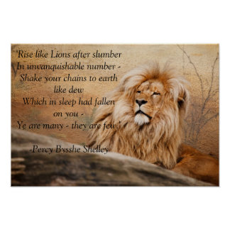 """""""Rise like Lions"""" Poster"""
