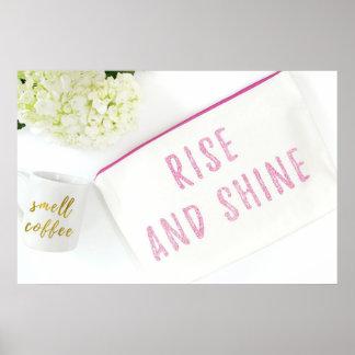 Rise n Shine White Jasmine with Mug Poster