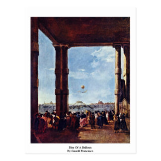 Rise Of A Balloon By Guardi Francesco Postcard