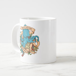 Rise of Kraken Monster Octopus Large Coffee Mug