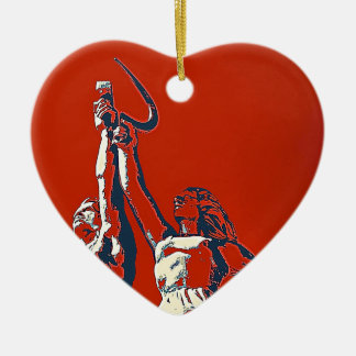 Rise of The Red Worker II Ceramic Heart Ornament