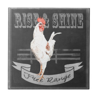 Rise & Shine Rooster Ceramic Tiles