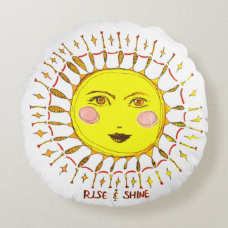 Rise & Shine Round Pillow