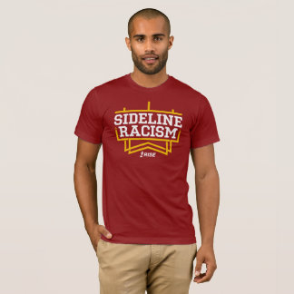 RISE Sideline Racism T-shirt men's red/yellow