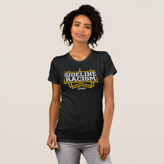 RISE Sideline Racism T-shirt women's black/yellow