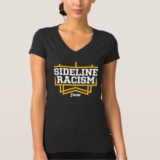 RISE Sideline Racism T-shirt women's gray/yellow
