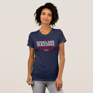 RISE Sideline Racism T-shirt women's navy/red