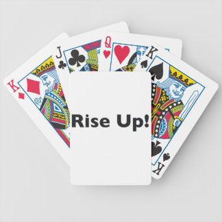 Rise Up! Bicycle Playing Cards
