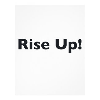 Rise Up! Letterhead Template