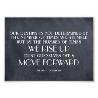 Rise Up & Move Forward Inspirational Quote Photo Print