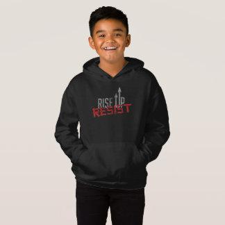 Rise Up, Resist Boy's Dark Hoodie