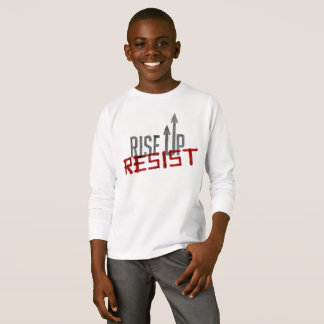 Rise Up, Resist Boy's Long Sleeve T-Shirt