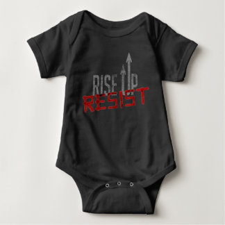 Rise Up, Resist Dark Baby Bodysuit