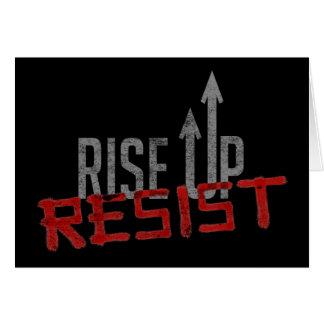 Rise Up, Resist Dark Greeting Card