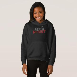 Rise Up, Resist Girl's Dark Hoodie