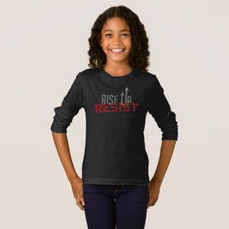 Rise Up, Resist Girl's Dark Long Sleeve T-Shirt